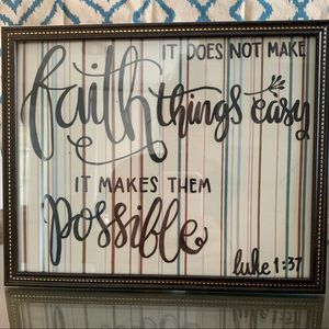 """""""Faith, it doesn't make things easy..."""